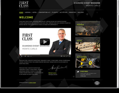 Vanquis Event Registration Web & Branding