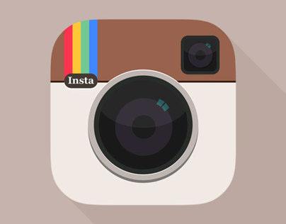 Instagram with flat UI...