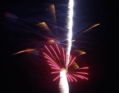 """Abstract FIREWORKS display photos:  """"STARS & STRIPES"""""""