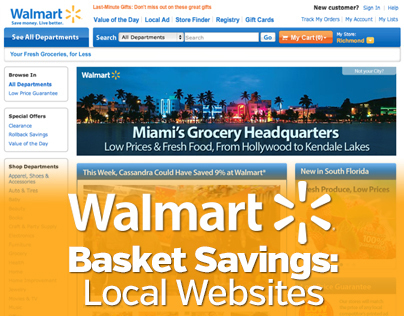 Walmart Basket Savings Local Websites