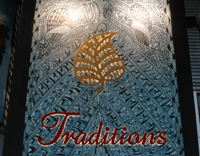 Traditions Logo and Signage Project by Nirali Shah