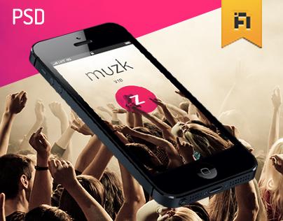 Muzk » Mobile App UI