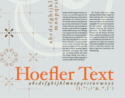 Hoefler Type Specimen Poster