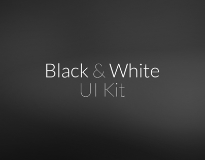 Black & White UI Kit