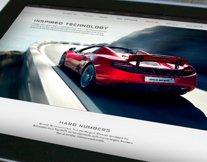 McLaren Automotive Website