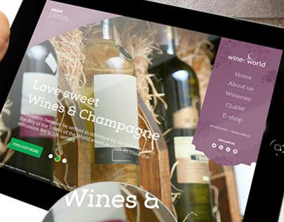 WineWorld - E-Store web design