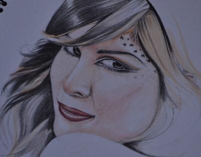 Kat Von D I Colored Pencil Sketch