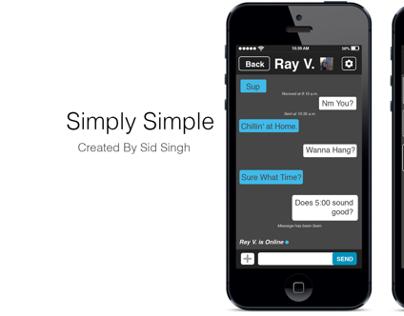 iPhone Messaging app design