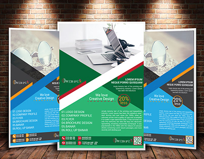 I will design an amazing business flyer for you company
