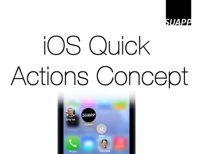 iOS Quick Actions Concept
