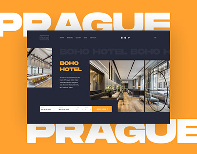 BoHo Hotel in Prague Website Design