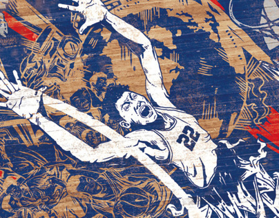 "NIKE ""Give Me The Ball"" Mural Design"