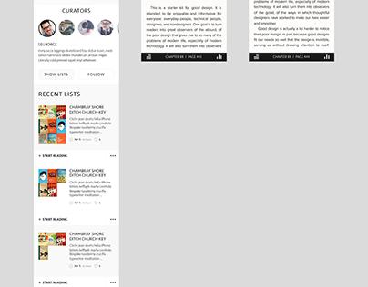 E-book reader app