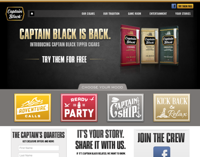 Captain Black Website Design