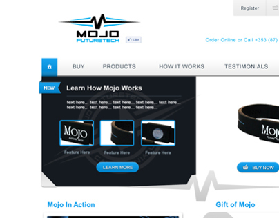 Mojo Wristbands - Ecommerce Website - Wordpress