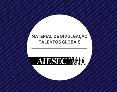 Material de divulgação Talentos Globais