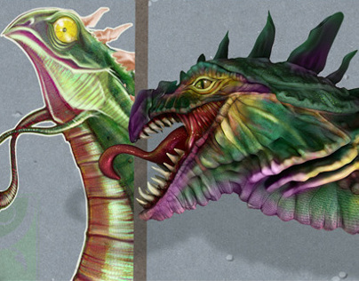 Creating a Prehistoric Creature Bust in ZBrush and PS