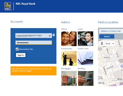 Windows 8 Surface Tablet Banking App
