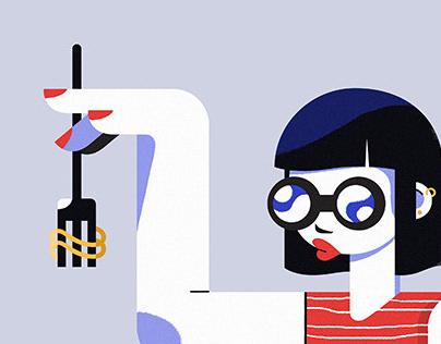 Random illustrations