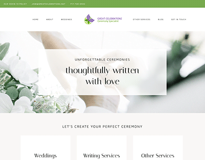 Great Celebrations Freelance Website