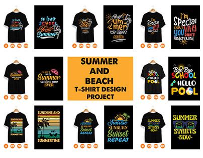 Summer and Beach T-shirt Design Project