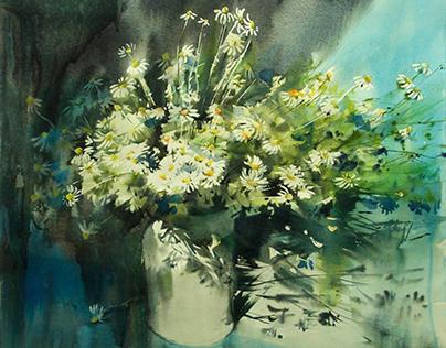 Watercolor / wildflowers