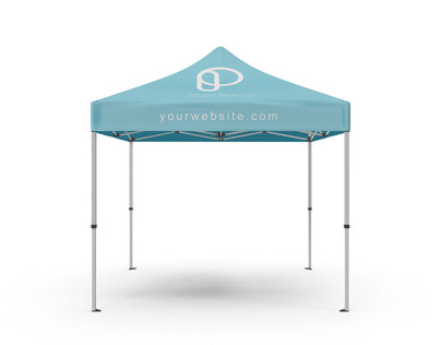 FREE SQUARE CANOPY TENT MOCKUP - EVENT BOOTH 10x10