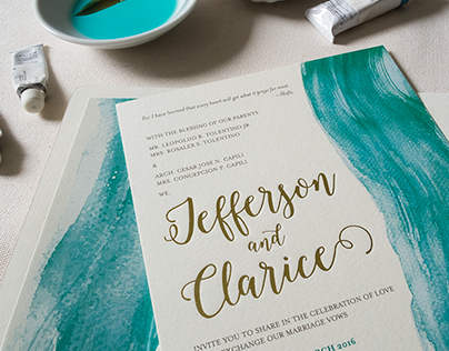 Wedding Invitation: Clarice & Jefferson