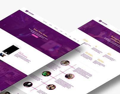 Instaroid—Website Design