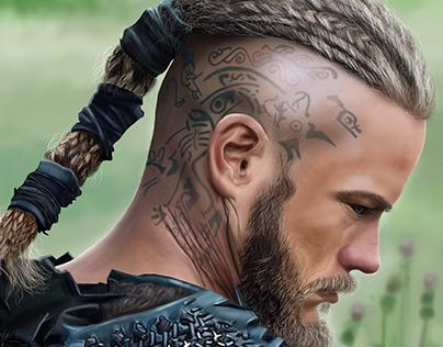 Illustration of Ragnar Lothbrok