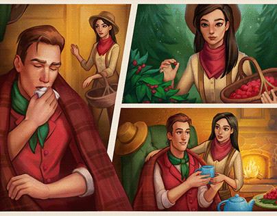 Autumn cold   Comics + the process