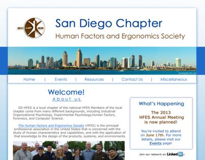 San Diego HFES Website