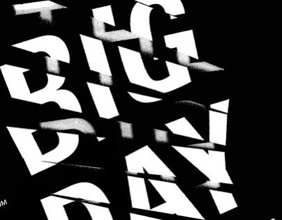 The Big Day Out Typographic Poster