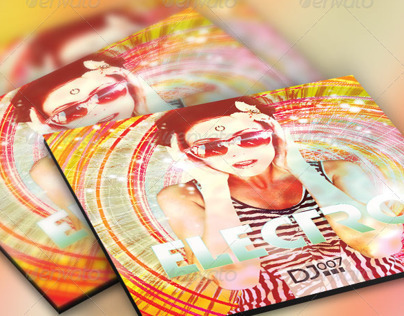 Electro CD Artwork Template