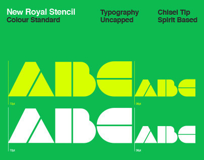 New Royal Stencil Typography