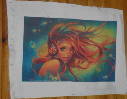 Sublimation print on canvas