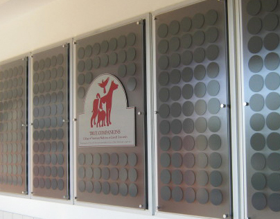 Donor Wall for Vet: Commercial Sign Design
