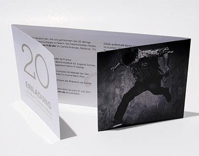 Compass 20 Jahre // Einladungskarte