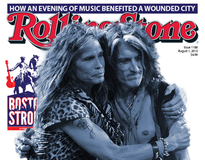 """Redesign Concept for """"Rolling Stone"""" Boston Cover"""