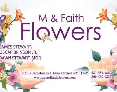 M & Faith Flowers Business Cards, Banner, Flier Design
