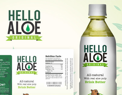 Aloe Drink Label