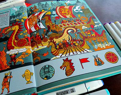 World Festivals Wimmelbuch Book (Age 7-13)
