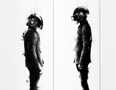 Daft Punk Tribute / Screenprint