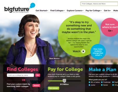 Big Future Website, Mobile, Marketing + Social