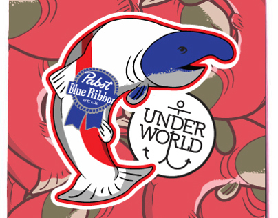 UW/Pabst Skate Graphic