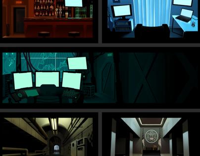 Splinter Cell Animated Trailer backgrounds