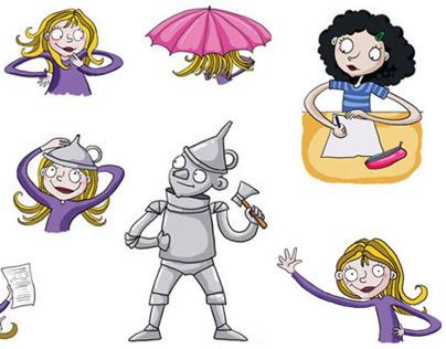 School Textbook illustrations