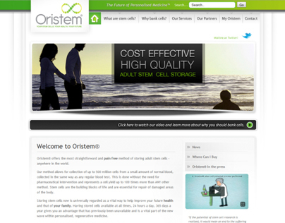 Oristem Website