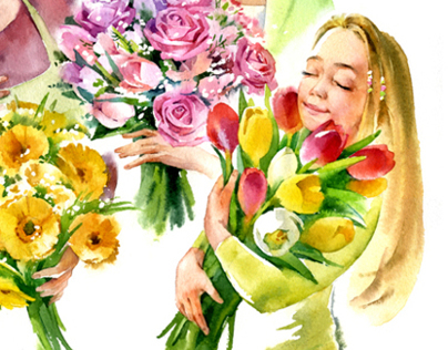 watercolor for florist.ru