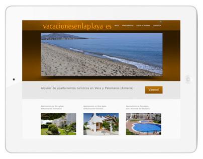 Diseño web vacacionesenlaplaya.es